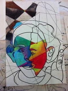 Project ART-A-DAY: Lesson: Cube Yo' Face! (Aka Picasso Portraits):