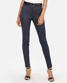 5e35bc5bedfec High Waisted Hazy Stripe Skinny Pant Skinny Pants, Blue Stripes, Work  Clothes, Color