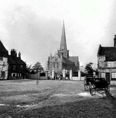 St.Cuthbert's church and Deanery to the right c.1875?