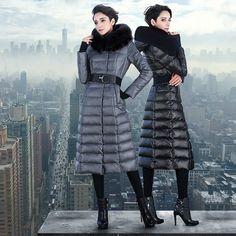 Plus size Women's X-long outerwear Thicken 90%Duck down coats – yiclothes.net
