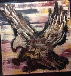 Abstract Eagle Canvas