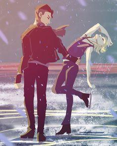 Yuri on ice- Otabek Altin and Yuri Plisetsky