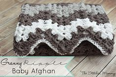 This Granny Ripple Afghan is a great pattern for making a blanket for your little love. Also makes a great baby shower and birthday gift.