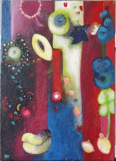 My BFF!! This girl can paint. Spring Abstraction 2 by SurfaceArtStudio on Etsy.