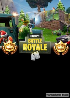 Welcome to Fortnite Battle Royale party! Celebrate your birthday with our free printable Fortnite birthday invitation template! Celebrate your birthday party with your favorite game, and save the money. Free Invitation Templates, Free Printable Birthday Invitations, Birthday Template, Templates Printable Free, Invitation Design, Free Printables, It's Your Birthday, Birthday Party Themes, Boy Birthday