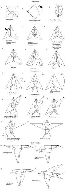 Paper barn swallow
