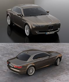 BMW CS Vintage Concept, aerial front and rear