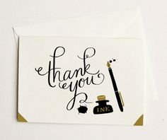 Quill & Fox thank you card
