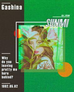 Color teaser of SUNMI (2017) - 그래픽 디자인 · 디지털 아트, 그래픽 디자인, 디지털 아트, 그래픽 디자인, 브랜딩/편집 Book Design, Layout Design, Web Design, Graphic Design Posters, Typography Design, Kpop Posters, Album Cover Design, Poster Design Inspiration, Grafik Design