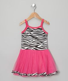 Love this Hot Pink & Black Zebra Tutu Dress - Toddler & Girls by Story Book Wishes on #zulily! #zulilyfinds