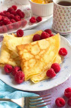 Naleśniki budyniowe Pudding, Sweets, Snacks, Chocolate, Breakfast, Ethnic Recipes, Food, Image, Griddle Cakes