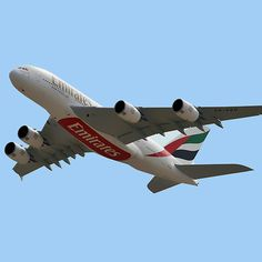 'Emirates Airlines Airbus by Graham Taylor Emirates Flights, Emirates Airline, Airplane Wallpaper, Airplane Photography, Airbus A380, Commercial Aircraft, Jeddah, British Airways, Concorde