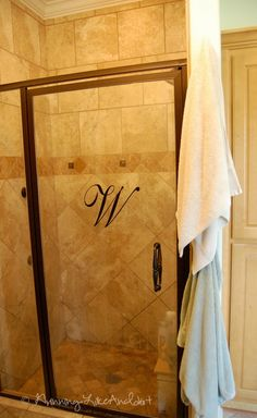 Elegant Silhouette Touch to a Shower Door