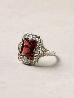 Estate garnet filigree ring-I need....