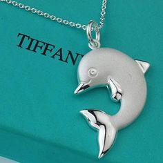 tiffany & co. dolphin necklace <3