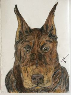 Watercolour of Majestic Doberman King