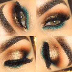 Tutorial inspired by Pocahontas colors J Makeup, Club Makeup, Eye Makeup Art, Eyeshadow Makeup, Makeup Inspo, Makeup Inspiration, Beauty Makeup, Makeup Stuff, Pretty Makeup