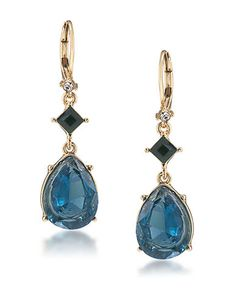 Glass Stone Double Drop Earrings | Lord and Taylor