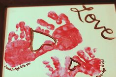 Handprint Art- Valentine's Day, gifts for ... | art and crafts for ki ...
