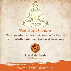 Did you know that the third chakra is symbolised by the colour yellow and a triangle within a lotus with ten petals? A healthy balance in the Manipura Chakra brings motivation, purpose, and confidence. #RudrakshaBeads #Spirituality