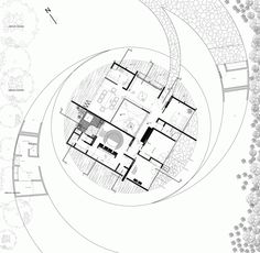 Eye-catching design of the Chinese Coin House located in Santa Cruz, Bolivia created by Juan Carlos Menacho Durán studio. Gothic Architecture, Architecture Plan, Landscape Architecture, Architecture Graphics, Architecture Drawings, Archdaily Mexico, Golden Number, House Sketch, Plan Drawing