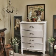 We've had much more spare time since selling our farmhouse. And waiting on the new house to be done. Spare time is not a good th. Repurposed Items, Repurposed Furniture, Vintage Dressers, Thrift Store Finds, Dresser As Nightstand, Suddenly, Thrifting, Restoration, Southern