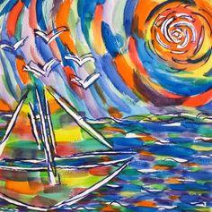 Goshen College student watercolor Goshen College, College Students, Watercolor, Abstract, Creative, Artwork, Painting, Drawing Tutorials, Tools