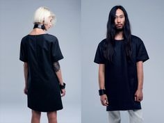 Waxed linen: FINCH dress and the shirt. LOOM collection 2014