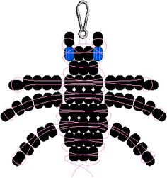 Beetle pony bead Pattern - He'll be interesting to do. Not sure how I'll do with the pincer area, though.