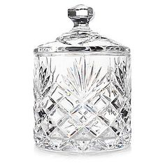 "Marquis by Waterford 5"" Wedge Cut Crystal Covered Canister"