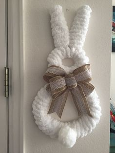 Easy diy easter wreaths for front door party wowzy door wreath bunny wreath easter bunny wreath spring wreath wreath for front door deco mesh wreath easter home decor deco mesh wreaths Bunny Crafts, Easter Crafts For Kids, Diy Wreath, Burlap Wreath, Cotton Wreath, Diy Osterschmuck, Easy Diy, Simple Diy, Diy Easter Decorations