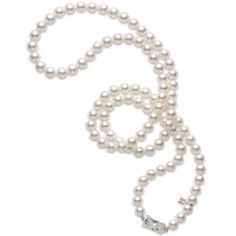 """Akoya Cultured Pearl 32"""" Special Edition - 18 karat White Gold Clasp"""