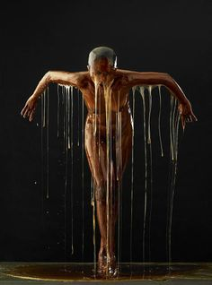 Naked Models Drenched In Honey Become Works Of Art In This Stunning Photo Shoot.