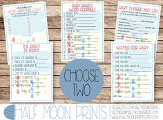 Rainbow Raindrops Rain Cloud Baby Shower Printable Game, CHOOSE TWO from Mad libs, wishes for baby, alphabet, price is right, word scramble by HalfMoonPrints on Etsy https://www.etsy.com/listing/207591025/rainbow-raindrops-rain-cloud-baby-shower