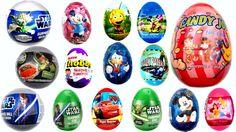 15 Surprise Eggs, Easter Eggs Kinder Surprise Cars 2 Mickey Mouse Star W... #Surpriseeggs #Toys #Disney #DisneyPixar #PixarCars #KinderSurprise #Surprise #Toy #MyLittlePony #HelloKitty #PeppaPig #MickeyMouse #Baby #Pixar #MinnieMouse #Cartoons #YouTube #Hello #spiderman #starwars #dora #Маша