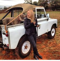 Got my Landy, dog, iphone and a glass of wine...what more does a girl need LOL