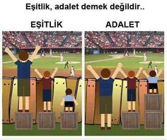 eşitlik vs adalet