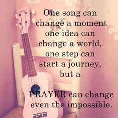 Prayer can change even the impossible!