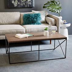 Metal coffee table - hard for Nala to chew up the legs! Lamon Luther Coffee Table $559 West Elm