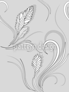Bromelia Monochrome by Martina Stadler available for download as a vector file on patterndesigns.com Vector Pattern, Pattern Designs, Patterns, Monochrome, Plant Vector, Spring Blossom, Soft Colors, Vector File, Surface Design