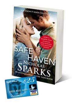 Safe Haven Book & Visa GC #Giveaway | Five Dollar Shake http://fivedollarshake.net/index.php/2013/02/safe-haven-book-visa-gc-giveaway/#