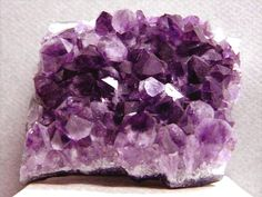 Amethyst - Balances brow and crown chakras, but can be used anywhere. Helps reduce restlessness, irritation and worry.