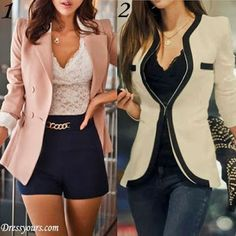Outfit on the left is my fave. Cute blazers.