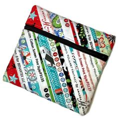 Small Zippered Bag with Recycled Fabric Selvages to Keep Your