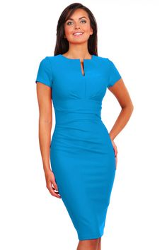 Diva Catwalk - Donna nu te koop op www. Tight Dresses, Short Sleeve Dresses, Dresses For Work, Dresses With Sleeves, Fashion Gallery, Catwalks, Girly Outfits, Pencil Dress, Must Haves