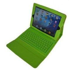7d254dd8d5e Amazon.com: Green Leather Case w/ Built-In Bluethooth Keyboard for Apple  iPad 2 ipad2 the new ipad 3 -: Electronics