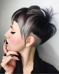 Diese 10 verschiedenen Kurzhaarfrisuren mit trendigen Farben und rasierten Seiten sind eine Versuchung wert! - Neue Frisur