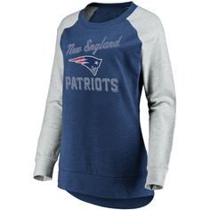 New England Patriots Women s Brushed Tunic  Gray Crew Neck Fleece  Sweatshirt XL 5dd5285ff