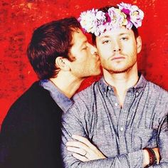 jensen why so angry, you have our cute overlord kissing you, smile