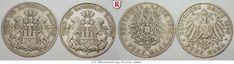 RITTER Hamburg, 5 Mark 1875 (J. 62); 5 Mark 1908 (J. 65) #coins #numismatics